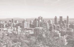 Vue panoramique centre-ville de Montréal