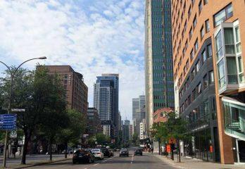 rue centre-ville de Montréal